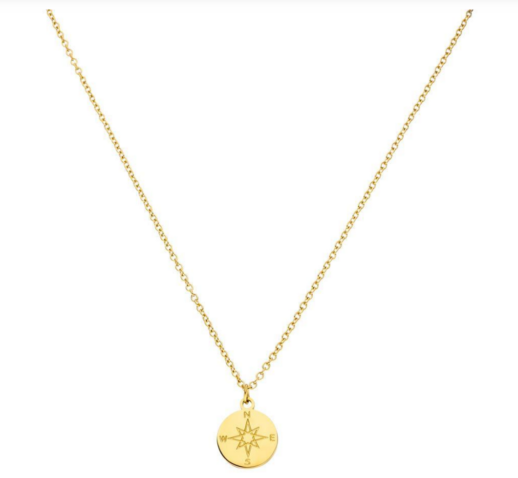 Kompass Necklace Schmuck Halskette Gold