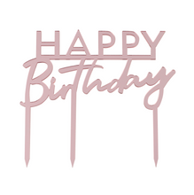 Laden Sie das Bild in den Galerie-Viewer, Geburtstag Cake Topper Happy Birthday Kuchenstecker Pink