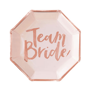 Team Bride Teller Roségold