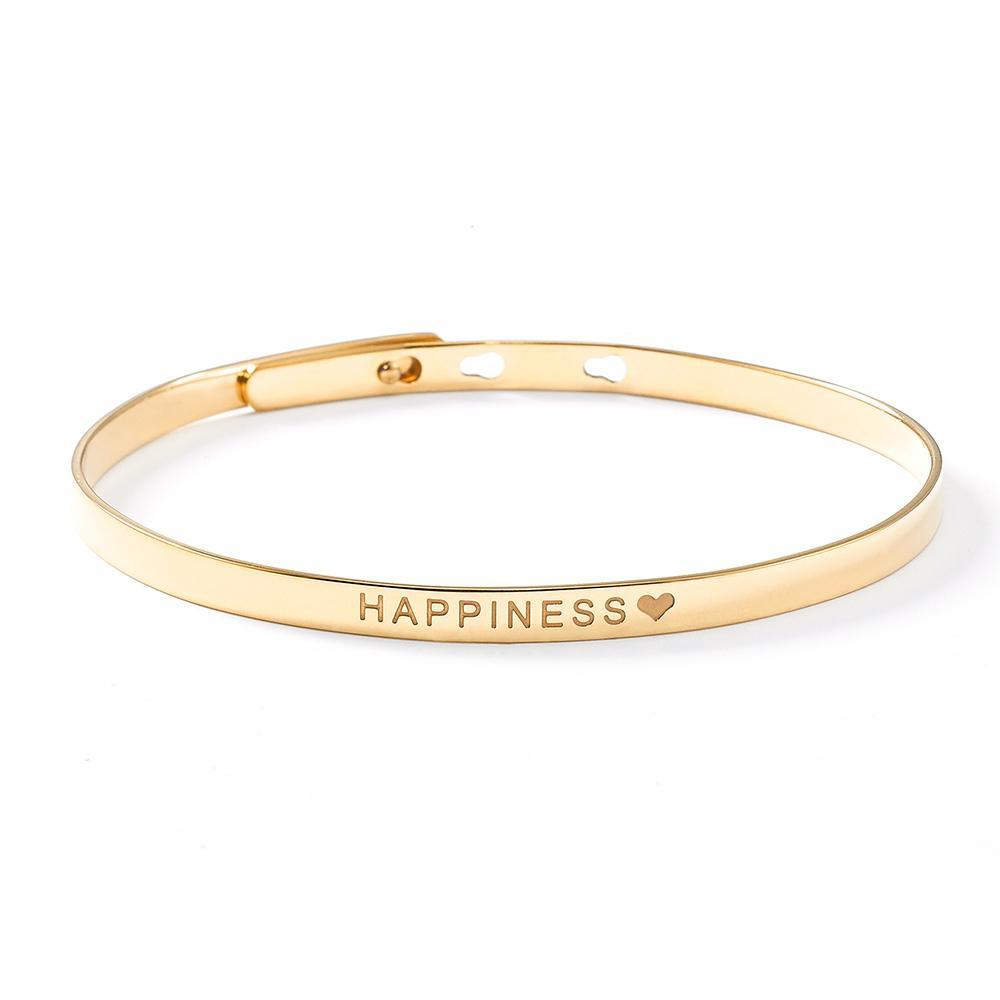 Happiness Bangle Armreif Schmuck Armband Gold