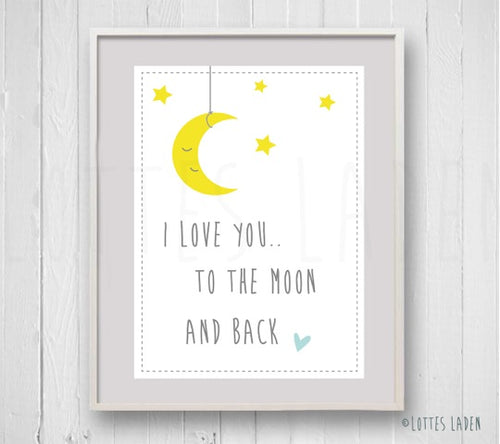 Poster 'To The Moon And Back'