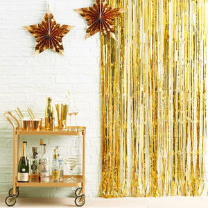 Vorhang Girlande Gold Party Deko Set