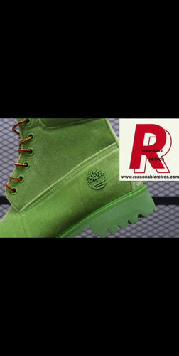 Timberland Suede Lime Green
