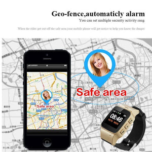 Gps Tracking Watch For Adult Elderly Smart Watch Anti-lost SOS Wifi