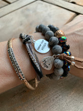 Load image into Gallery viewer, Silvertone 'FAITH' Bead Medley Bracelet
