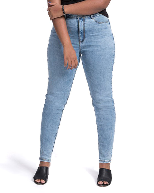 feminine slim fit glacier wash jeans