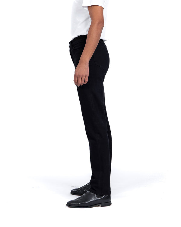 masculine tapered fit graphite black jeans