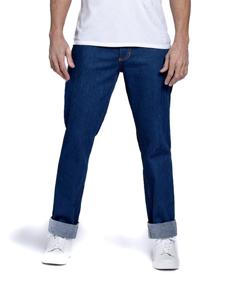 masculine relaxed fit nova blue jeans