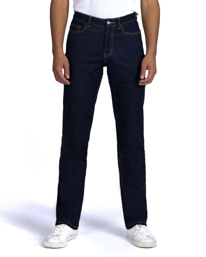 masculine relaxed fit space blue jeans