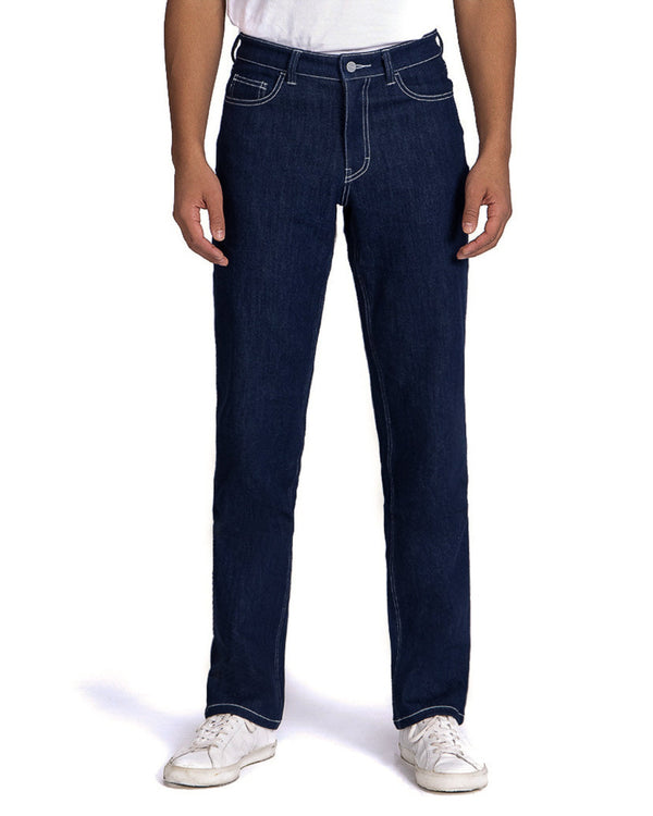 masculine relaxed fit unspun blue jeans