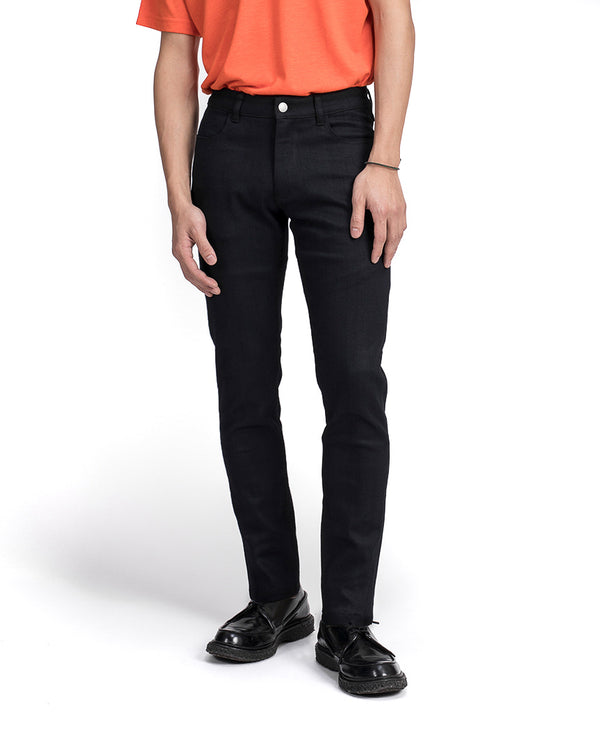 masculine slim fit cosmic black jeans