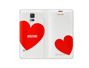 Flip Wallet Cover (Collaboration) (Galaxy S5 Red Heart)