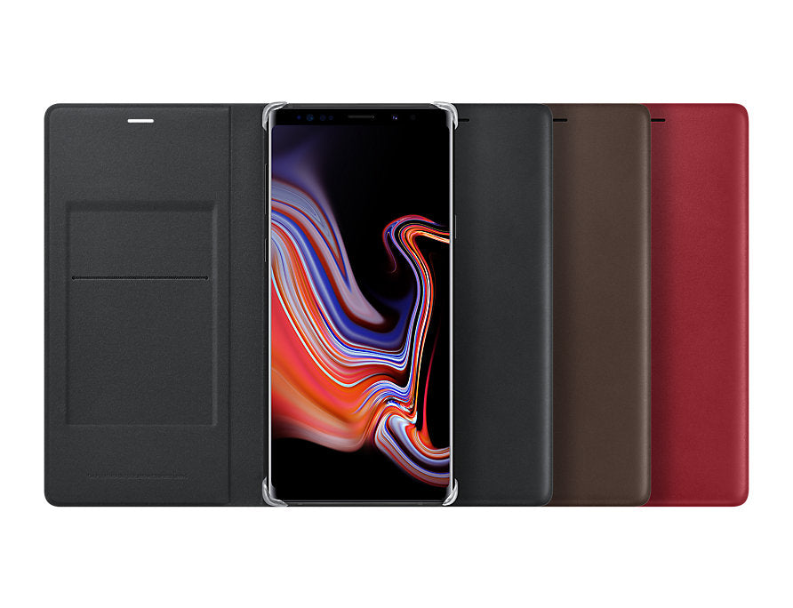 Leather Wallet Cover (Galaxy Note 9)