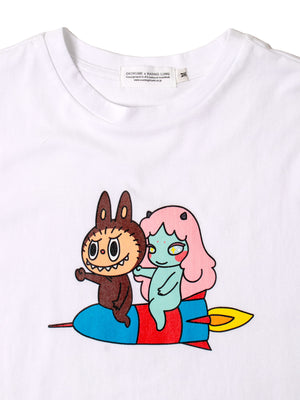 cosmic girl x labubu Tee shirt white