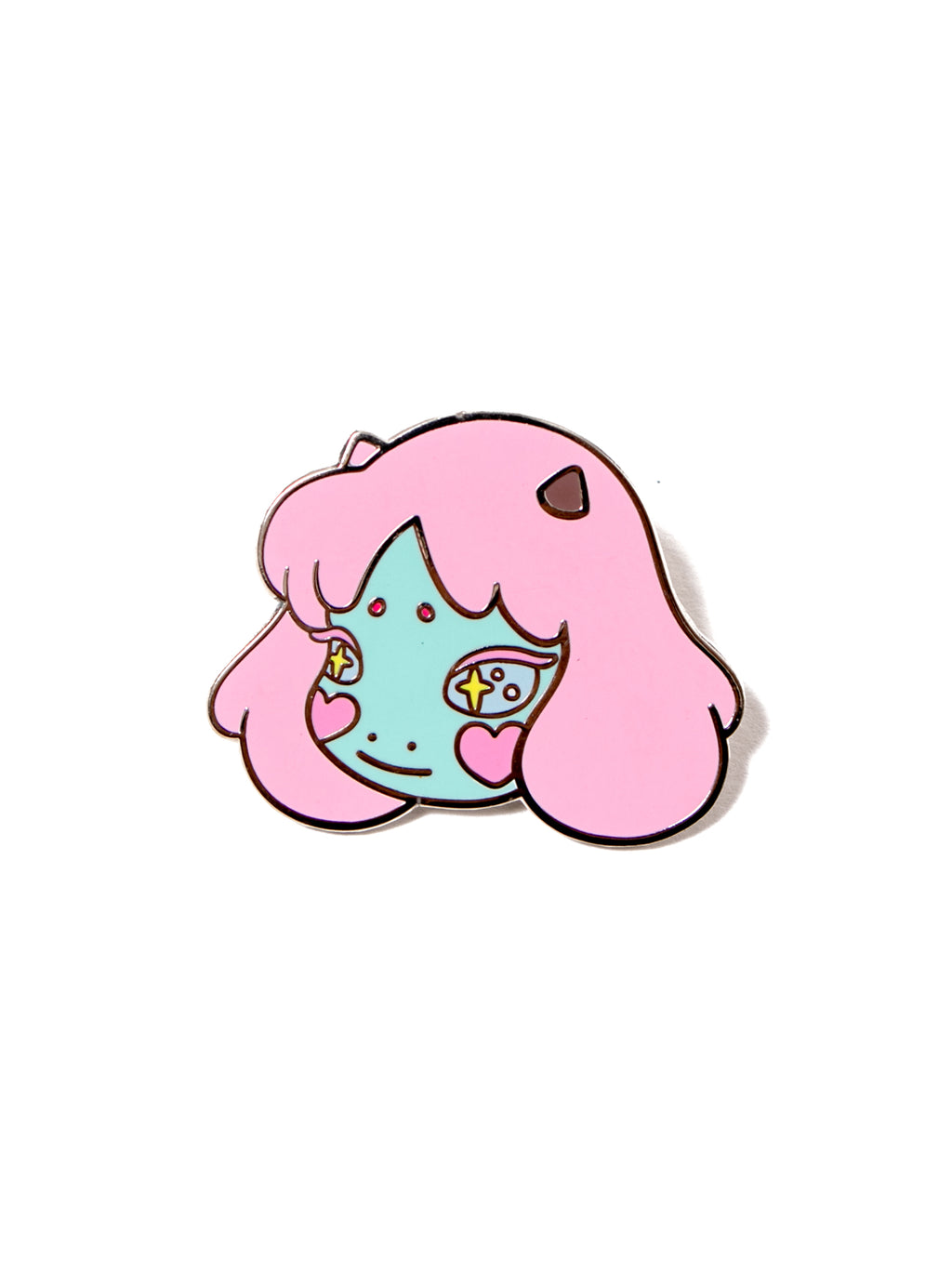 cosmic girl pin badge okokume