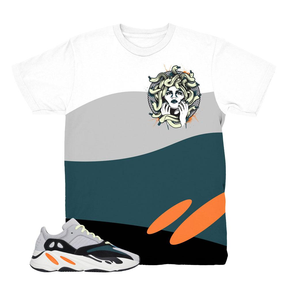 Yeezy 700 Wave Runner Medusa White Shirt to Match Yeezy 700 Wave Runner Sneakers