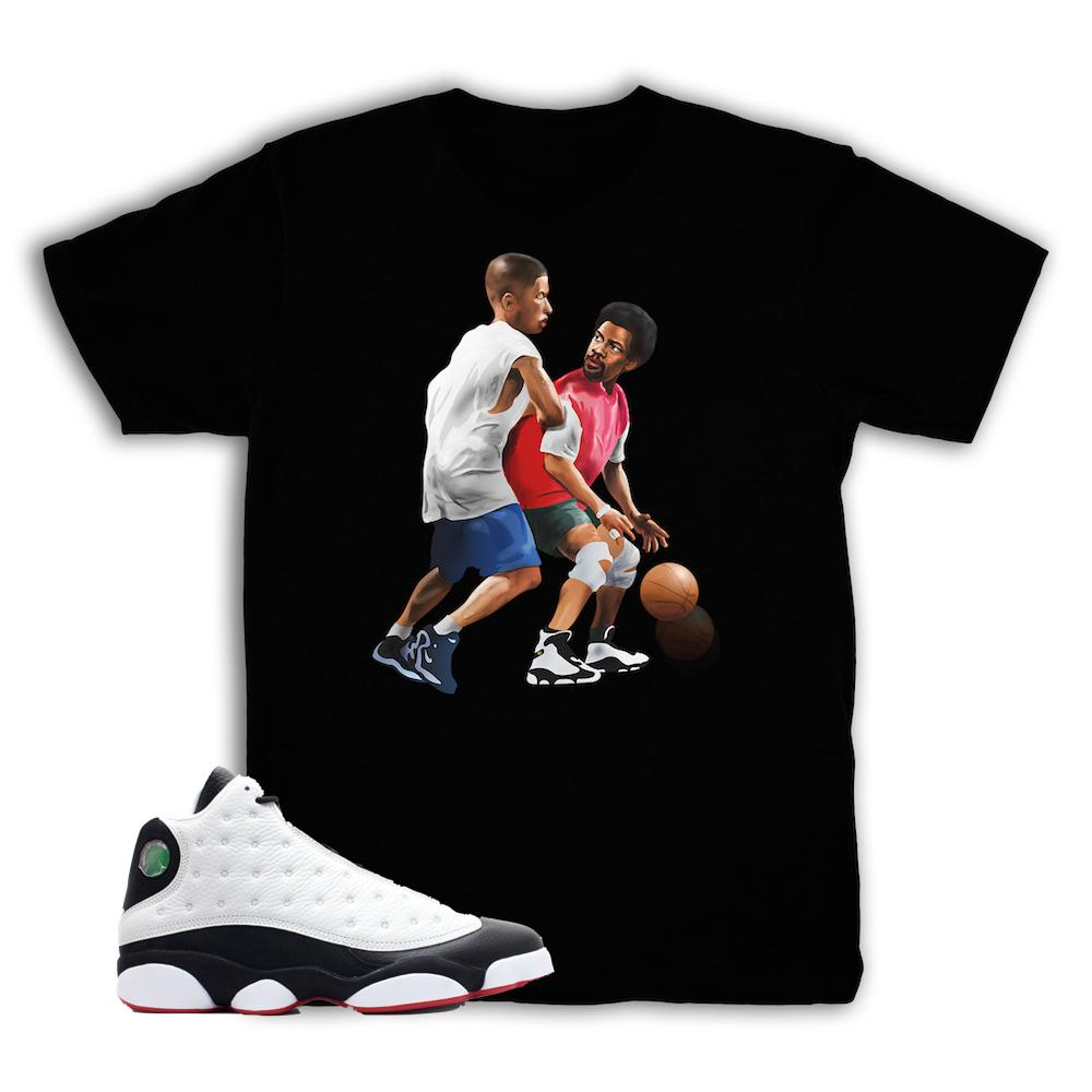new concept 1e005 2b83c Jordan 13 He Got Game Shirt