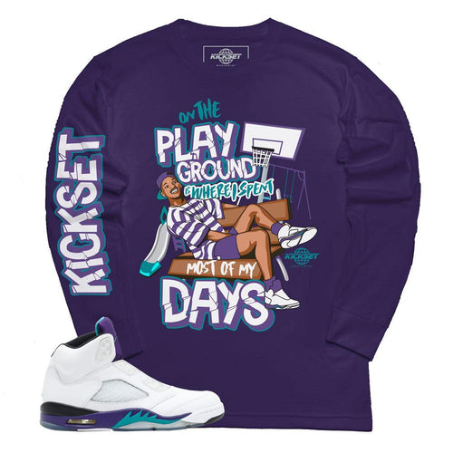 a6bccbaf38c9f Shop The Latest Jordan 5 Grape Fresh Prince Tees | Sneaker Tee ...