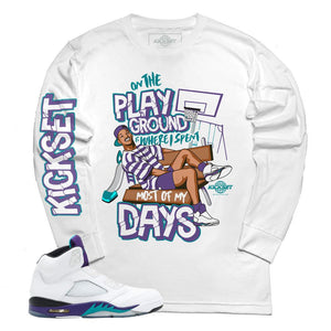 ec294608131 jordan 5 grape fresh prince shirts | retro 5 tees | grape 5 fresh prince t