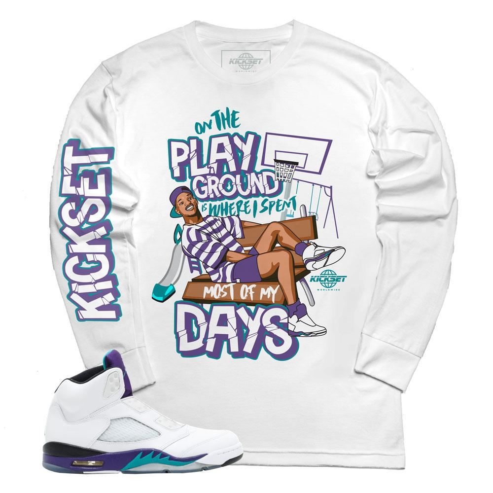 jordan 5 grape fresh prince shirts | retro 5 tees | grape 5 fresh prince t-shirts
