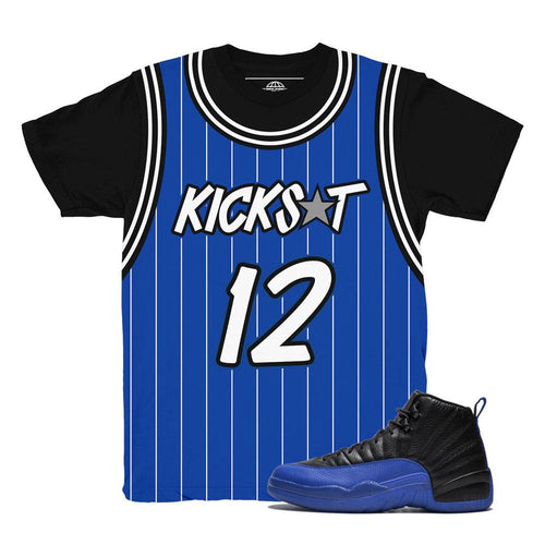 jordan 12 game royal shirts | retro 12 clothing | game royal 12 tees