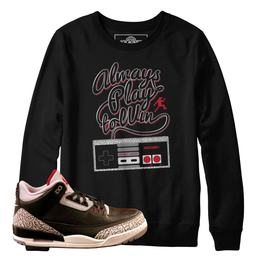 Jordan 3 cement sweaters : retro 3 cement sweatshirts : Jordan 3 clothing