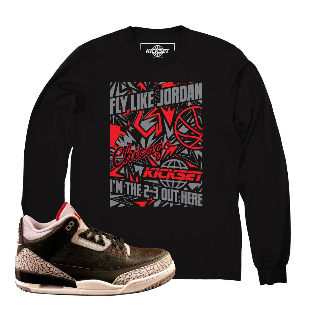 Jordan 3 cement shirts : retro 3 clothing : cement 3s tees