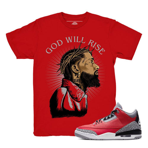 Jordan 3 Red Cement Shirts | Retro 3 Jordan Clothing | Red Cement 3s All Star 2020 Tees