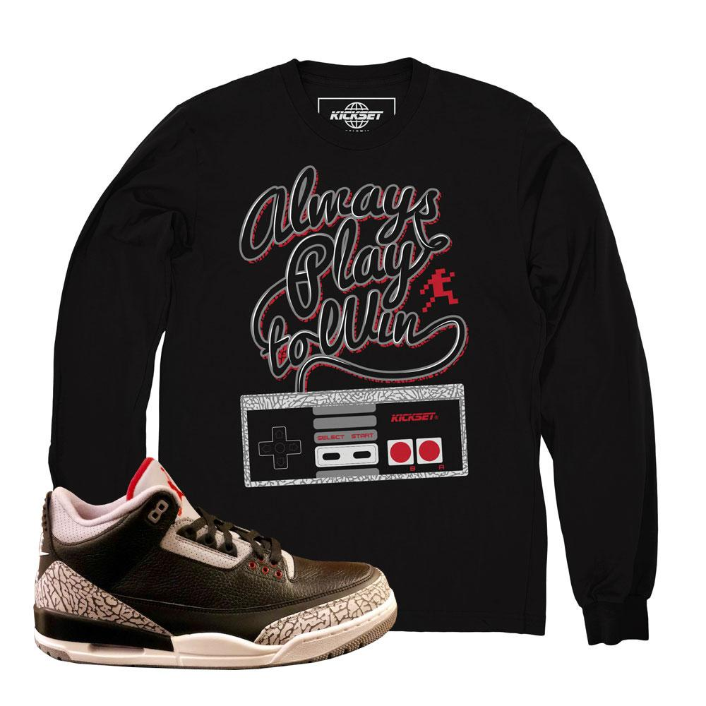 Jordan 3 cement shirts : retro 3 cement tees : Jordan 3 clothing