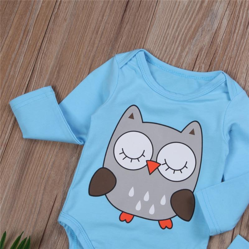 bad87e2116a ... Load image into Gallery viewer, Boy/Girl Twin Owl Bodysuits 3 Piece Set  0 ...