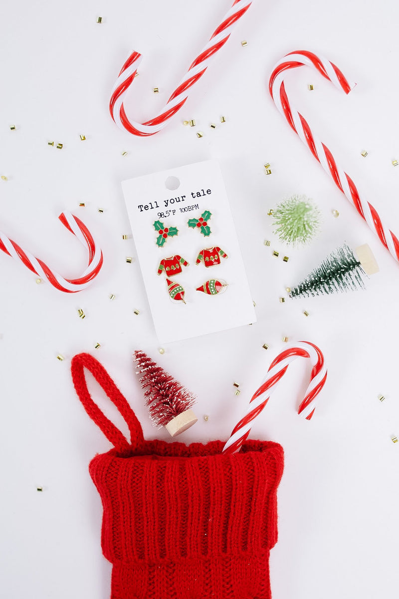 Holly Jolly Christmas Earring Set