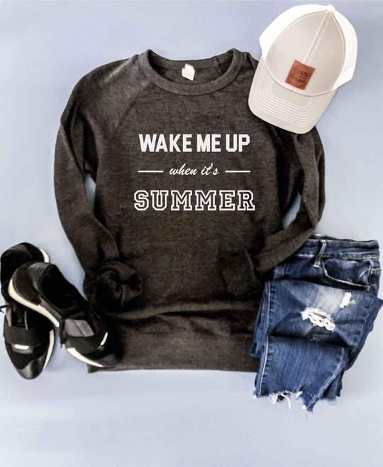 PREORDER | Wake Me Up When It's Summer (Charcoal) - Trendy Plus Size Women's Boutique Clothing