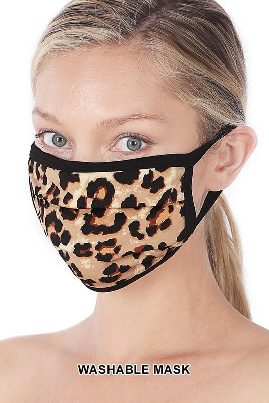 Tan Leopard Face Cover