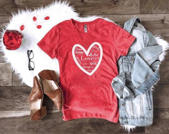 PREORDER | Love Languages Tee - Trendy Plus Size Women's Boutique Clothing