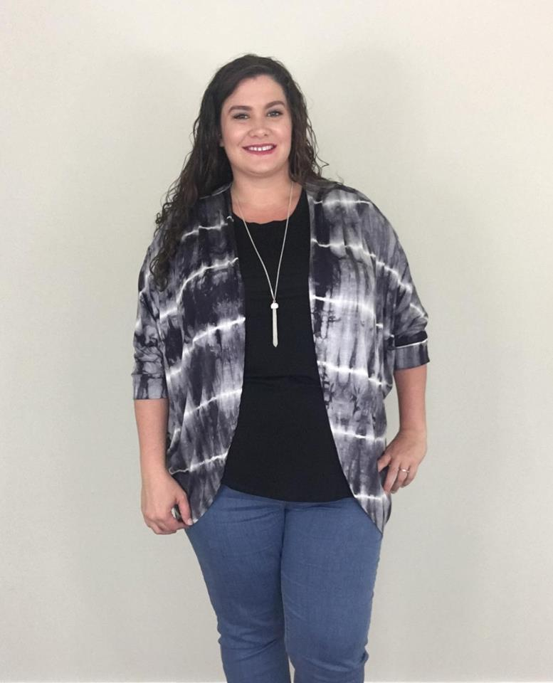 Tie Dyed Short Cardigan - Trendy Plus Size Women's Boutique Clothing