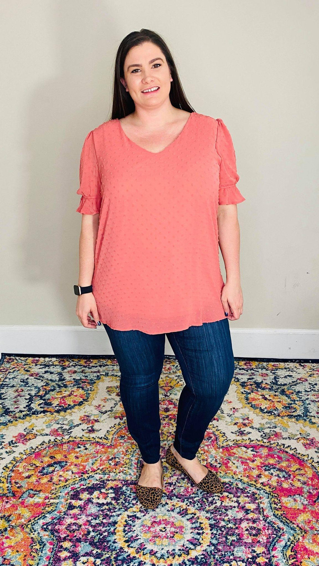 Swiss Dot Blouse | Rose