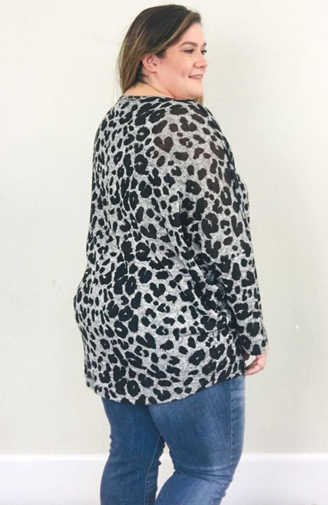 On the prowl long sleeve - Trendy Plus Size Women's Boutique Clothing