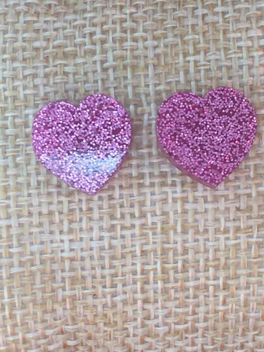 Pink Heart Earrings - Trendy Plus Size Women's Boutique Clothing