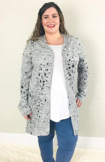 Star Favorite Cardigan - Trendy Plus Size Women's Boutique Clothing
