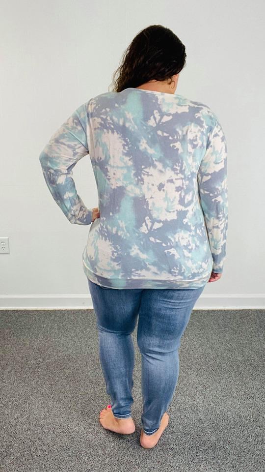 Tie Dye Long Sleeve Top | Mint