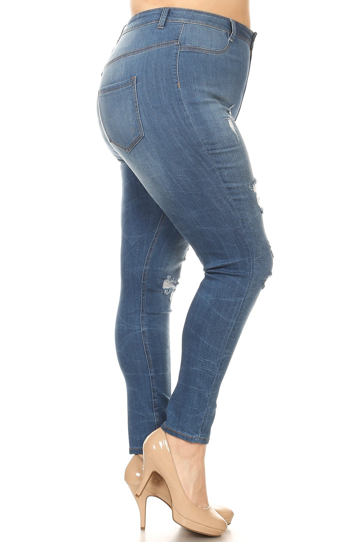 6456249630e1d High Waisted Distressed Jeans - Trendy Plus Size Women s Boutique Clothing