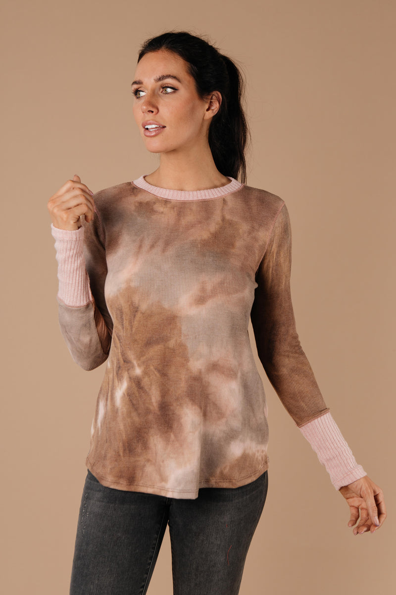 New Neutrals Tie Dye Top