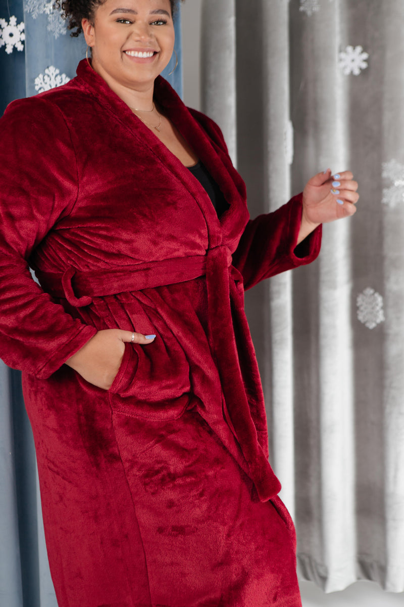 You Time Robe in Burgundy