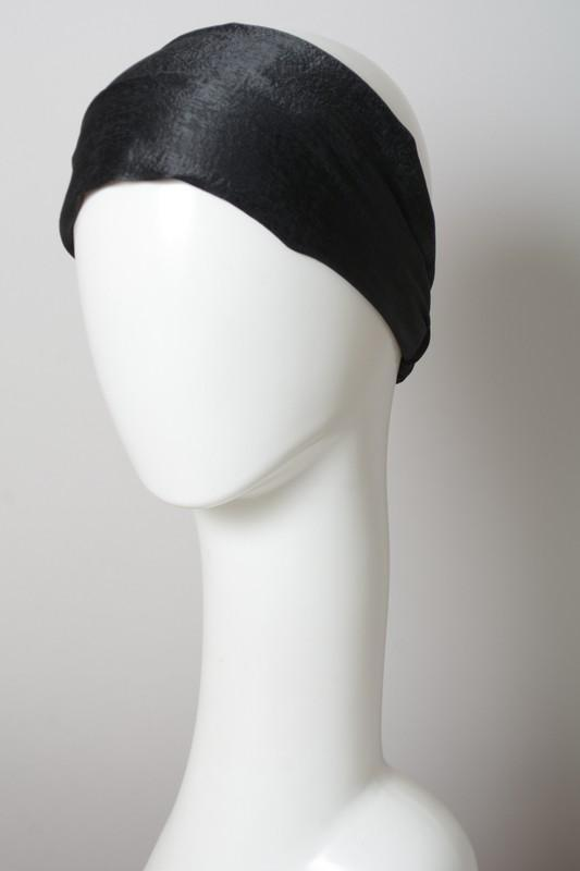 Blackk Soft Batiste Elastic Wide Headband