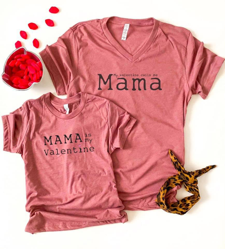 PREORDER | Mama is my valentine mauve (kids) - Trendy Plus Size Women's Boutique Clothing