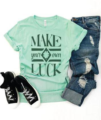 PREORDER| Make Your Own Luck - Mint Green - Trendy Plus Size Women's Boutique Clothing