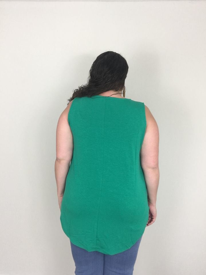 Kelly Green Essential Tank - Trendy Plus Size Women's Boutique Clothing
