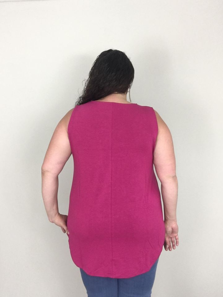 Magenta Essential Tank - Trendy Plus Size Women's Boutique Clothing