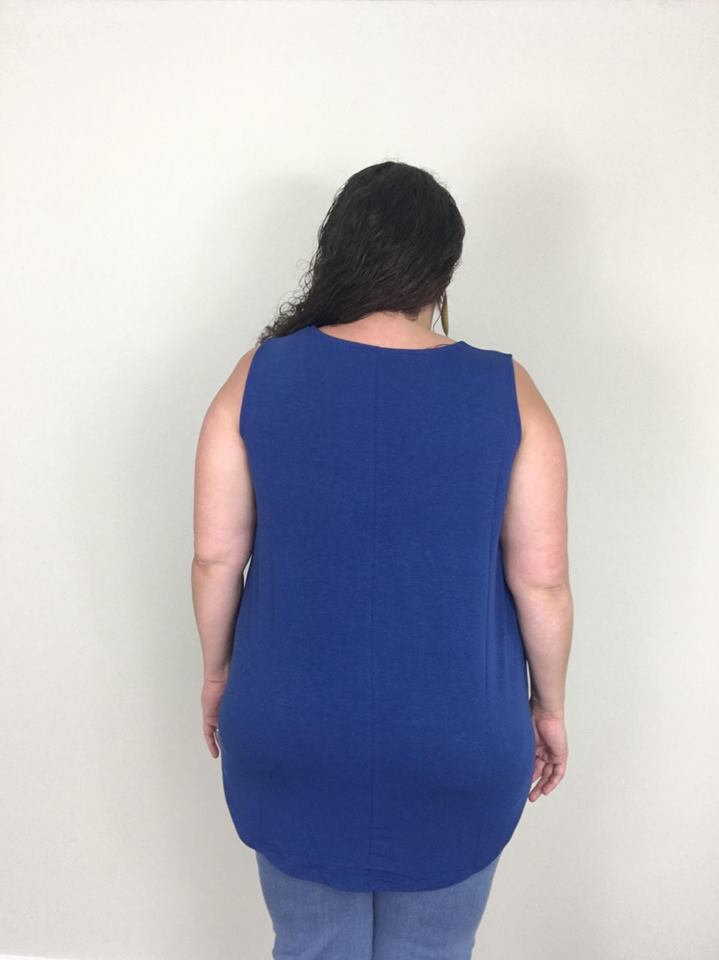 Sapphire Essential Tank - Trendy Plus Size Women's Boutique Clothing