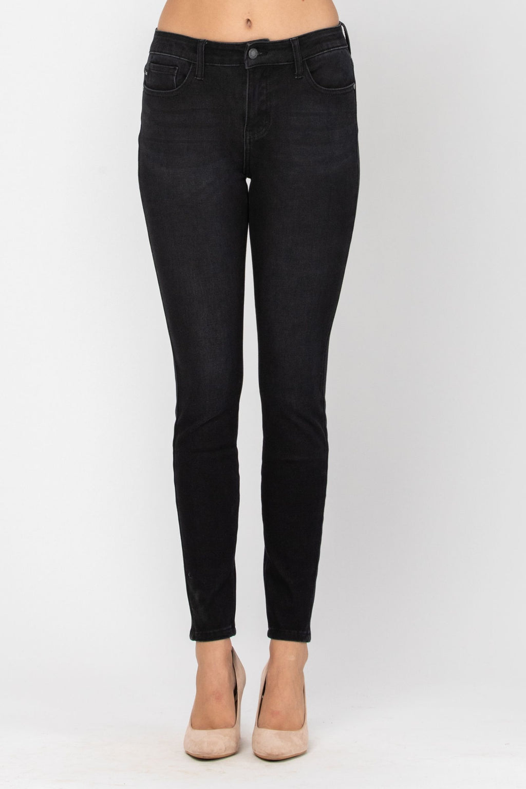 Judy Blue ThermaDenim Skinny Fit | Black - FINAL SALE